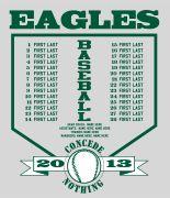 Team Roster TShirt  Baseball TShirt Designs For Your Team