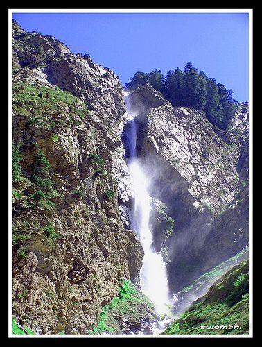 waterfall in ushu valley swat PAKISTAN