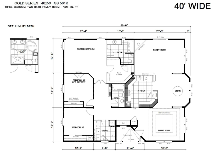 House floor plans 40x60 barndominium floor plans 40x40 for 40x40 house plans