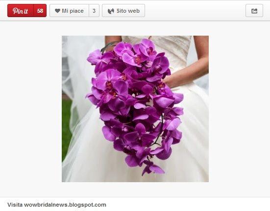 Radiant Orchid per bouquet sposa  colore dell'anno 2014