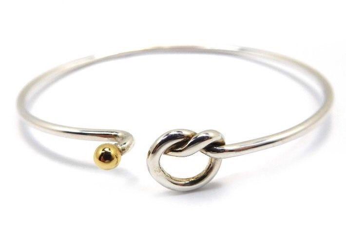 b2fe8510d Vintage Tiffany & Co. Sterling Silver 18k Gold Hook Eye Bangle Bracelet  #TiffanyCo #Bangle