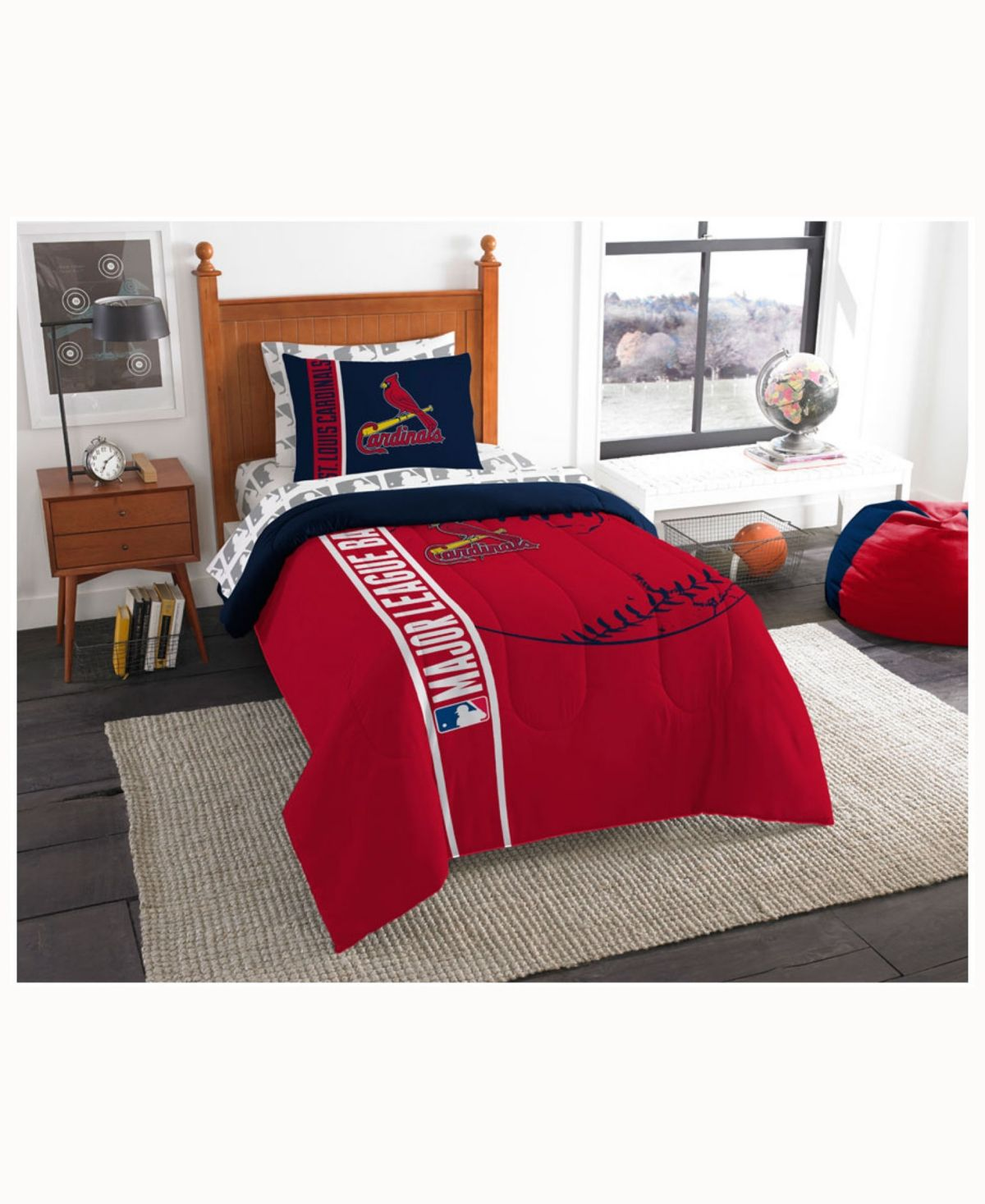 St Louis Cardinals 5 Piece Twin Bed Set Red Twin Comforter