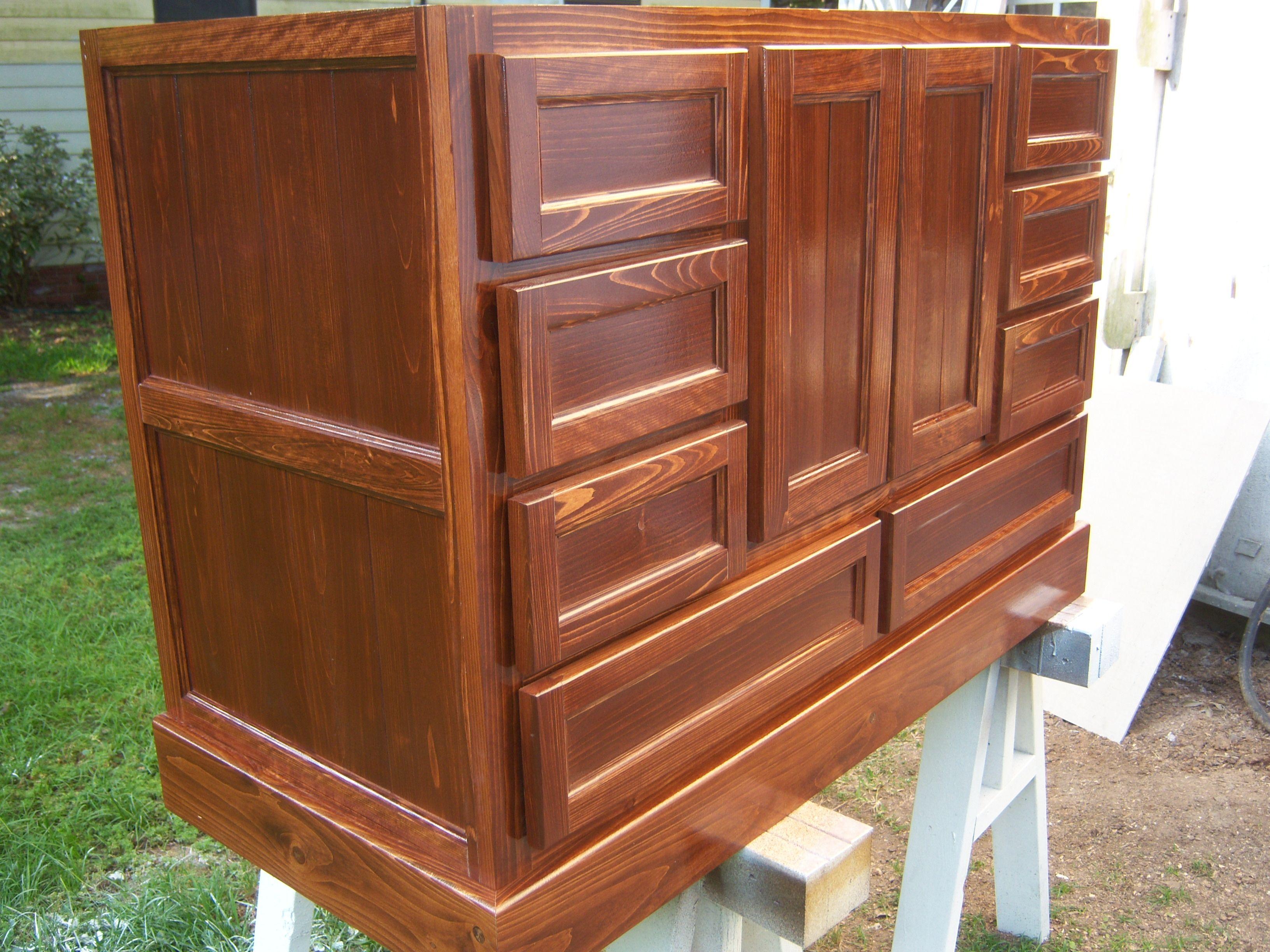 Cypress vanity cabinet | Cypress wood, Wood cabinets ...
