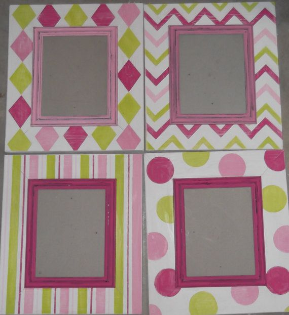 Pick Your Color Distressed Hanging Wooden Picture Frame Hand