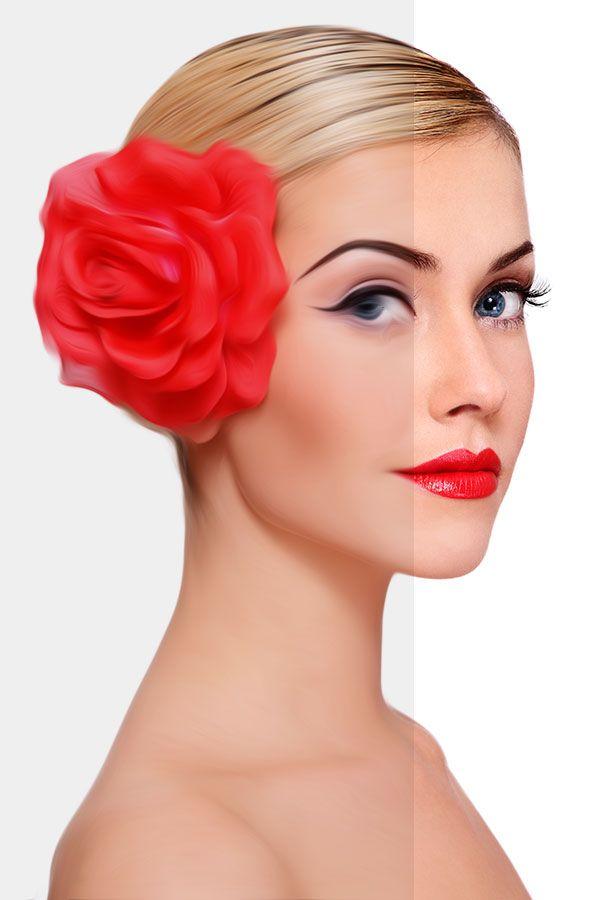 Photoshop CS6 Tutorials: Create Oil Painting Photo Effects   AnimHuT
