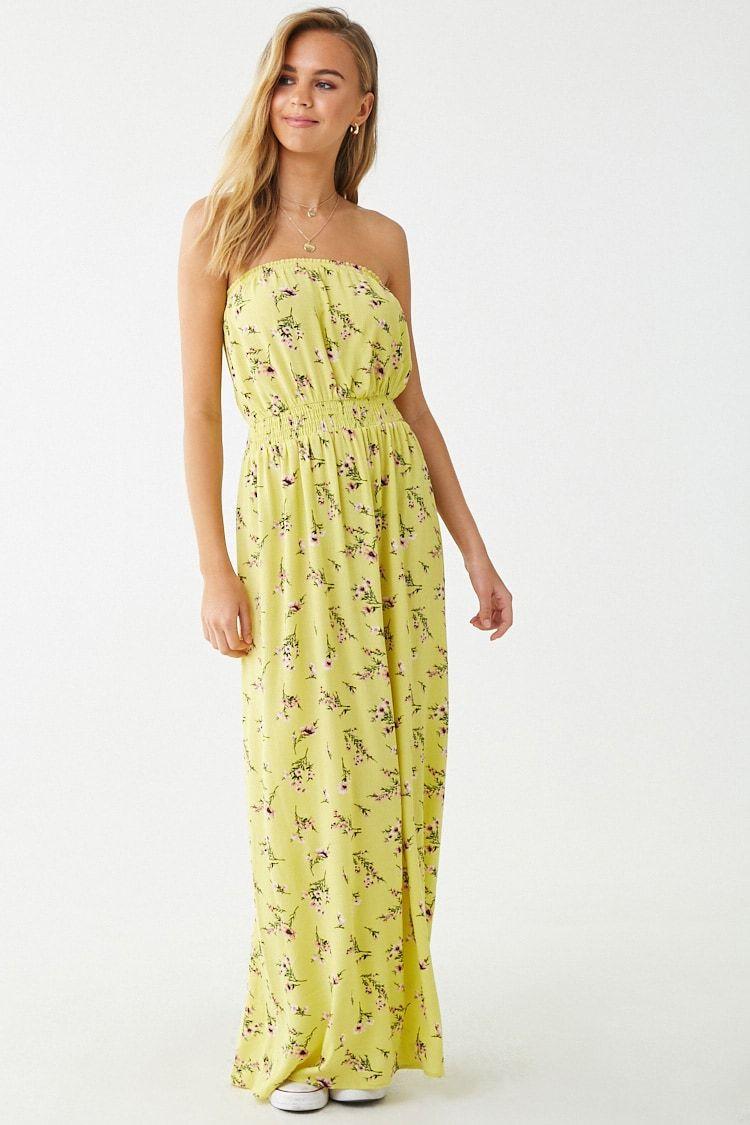 Strapless Floral Print Maxi Dress Forever 21 Maxi Dress Floral Print Maxi Dress Printed Maxi Dress [ 1125 x 750 Pixel ]