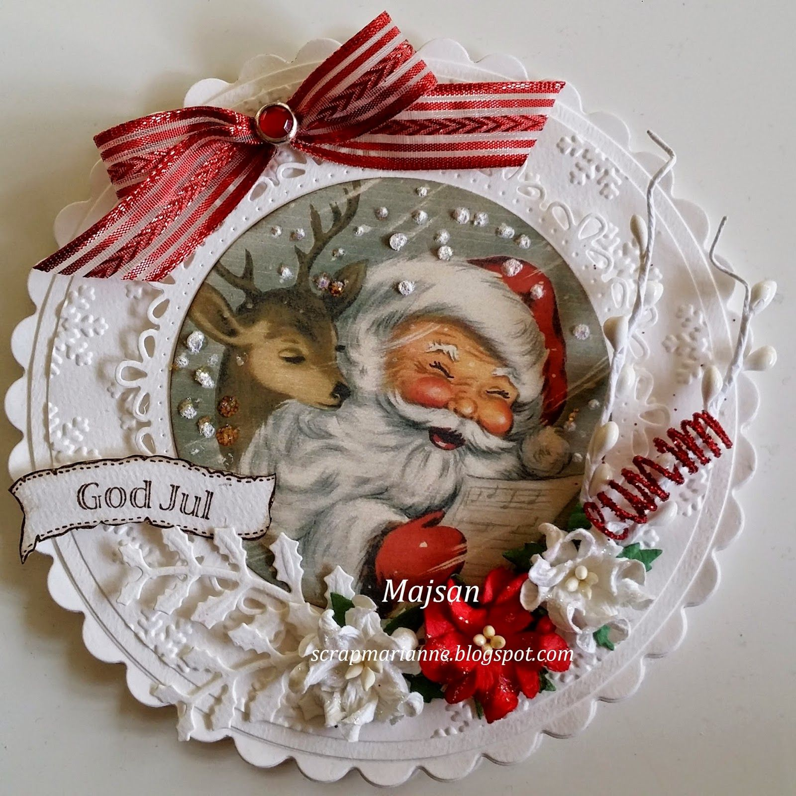 DIY Vintage Santa Bauble Ornament Inspiration. Recycle A