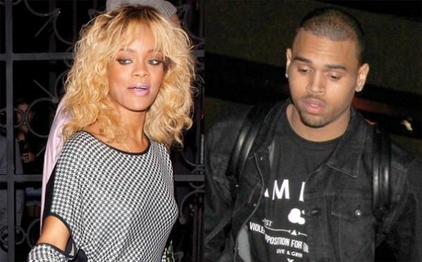 Rihanna And Chris Brown Eye Each Other Down At Greystone Manor