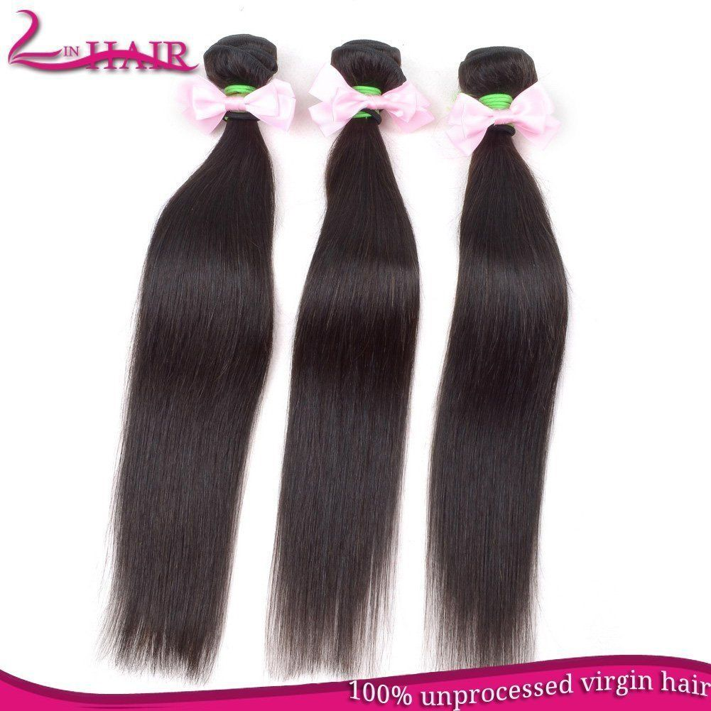Brazilian Straight Hair Virgin Human Hair Extensiondouble Machine