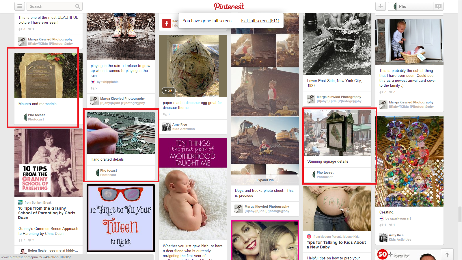 1st page position for plaques on pintrest