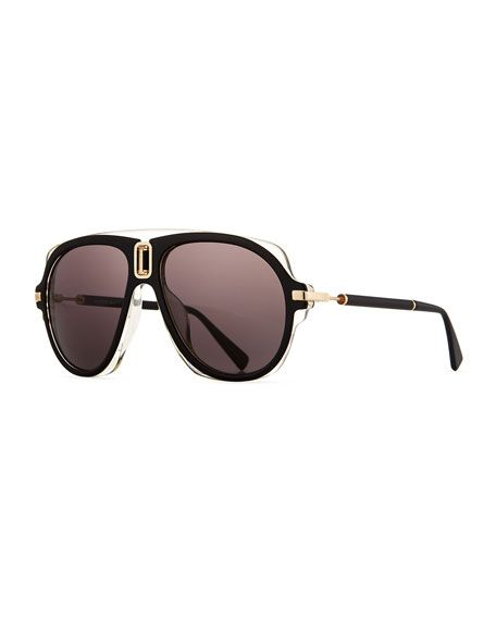 45a9e176ce5c66 Acetate Aviator Sunglasses | The ish I covet | Sunglasses, Black ...