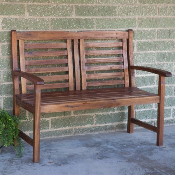 Contemporary Outdoor 2 Seat Garden Bench with Weather ...