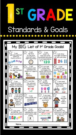 Kindergarten Goal Chart - FREEBIE — Keeping My Kiddo Busy