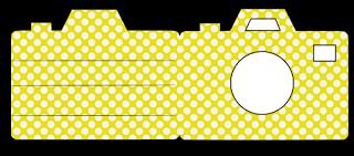 Shaped Greeting Card Template - Camera Card