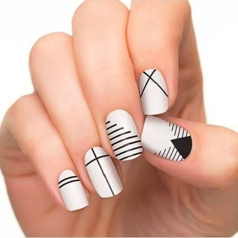- French Tip Nail Designs Lines