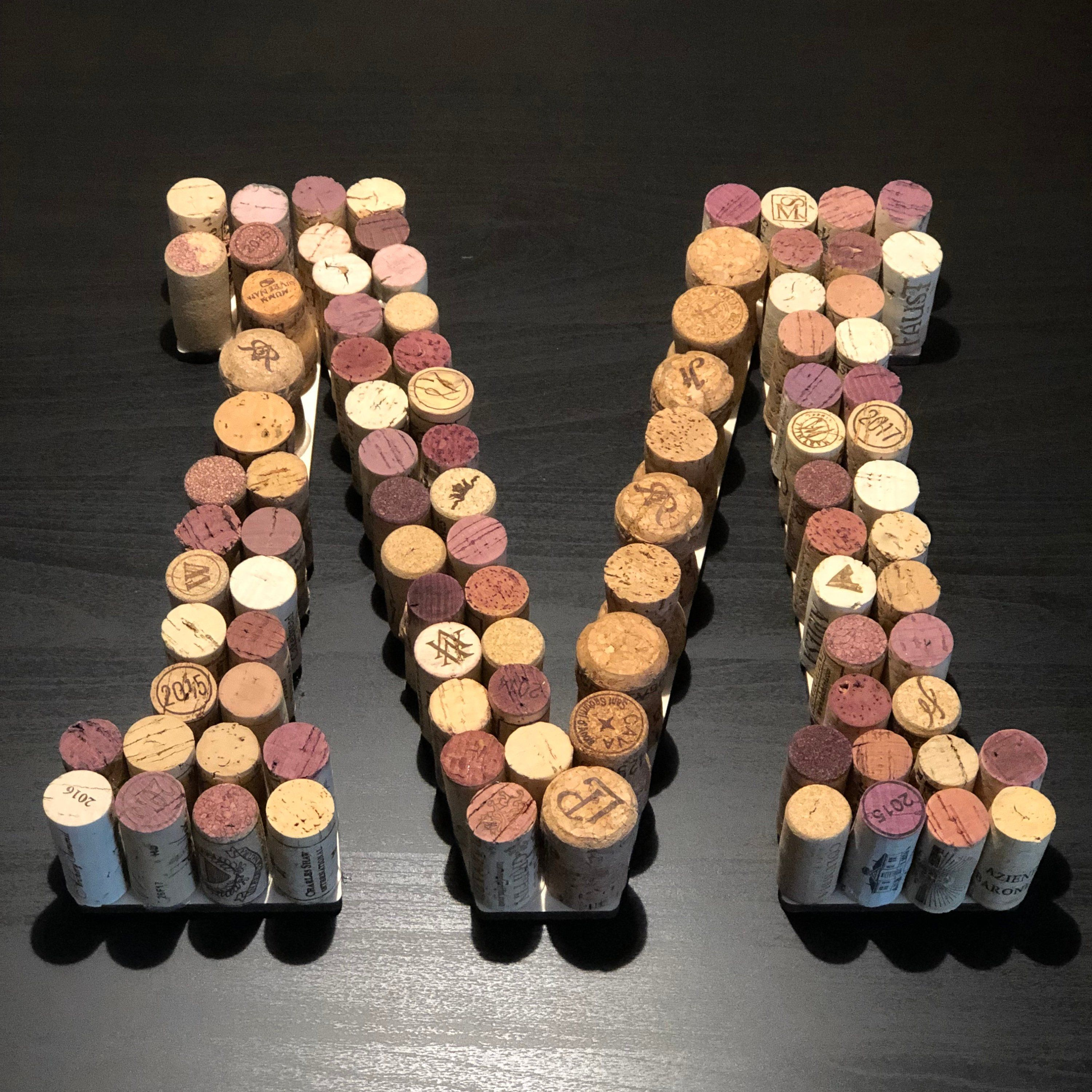 Cork Crafts For Weddings: Wine Cork Letters, Cork Letters