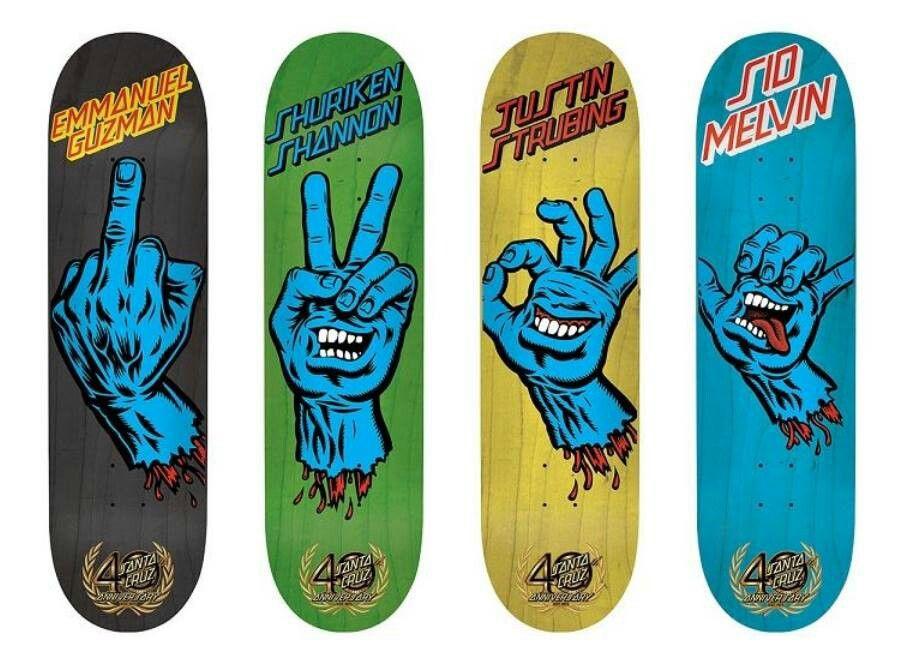 Santa Cruz Cool Skateboards Skateboard Art Design Skateboard Deck Art