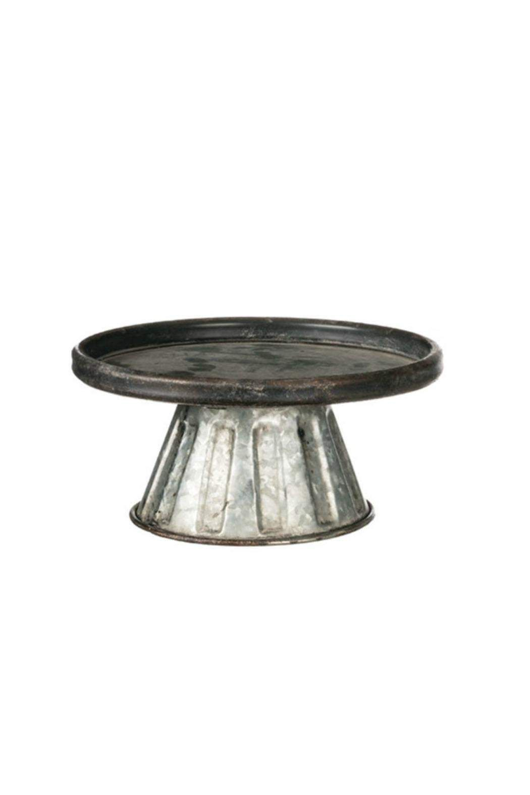 """Decorative Galvanized Metal Pedestal. Great for displaying baked goods. Makes a great gift.    Measures: 9.5"""" x 11""""   Small Galvanized Pedestal by Walker's. Home & Gifts - Home Decor - Decorative Objects Alabama"""
