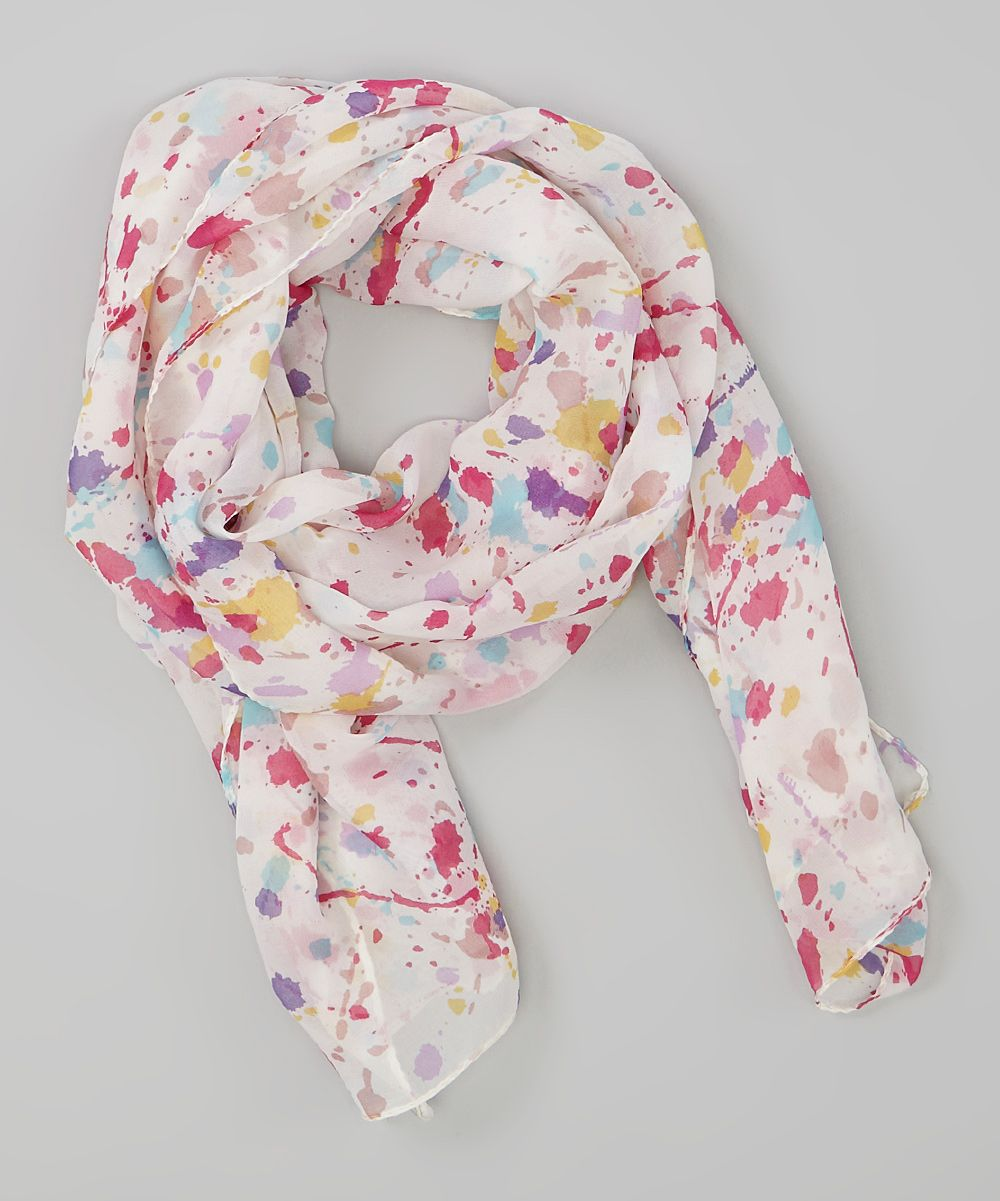 Pink Paint Splatter Scarf   Daily deals for moms, babies and kids