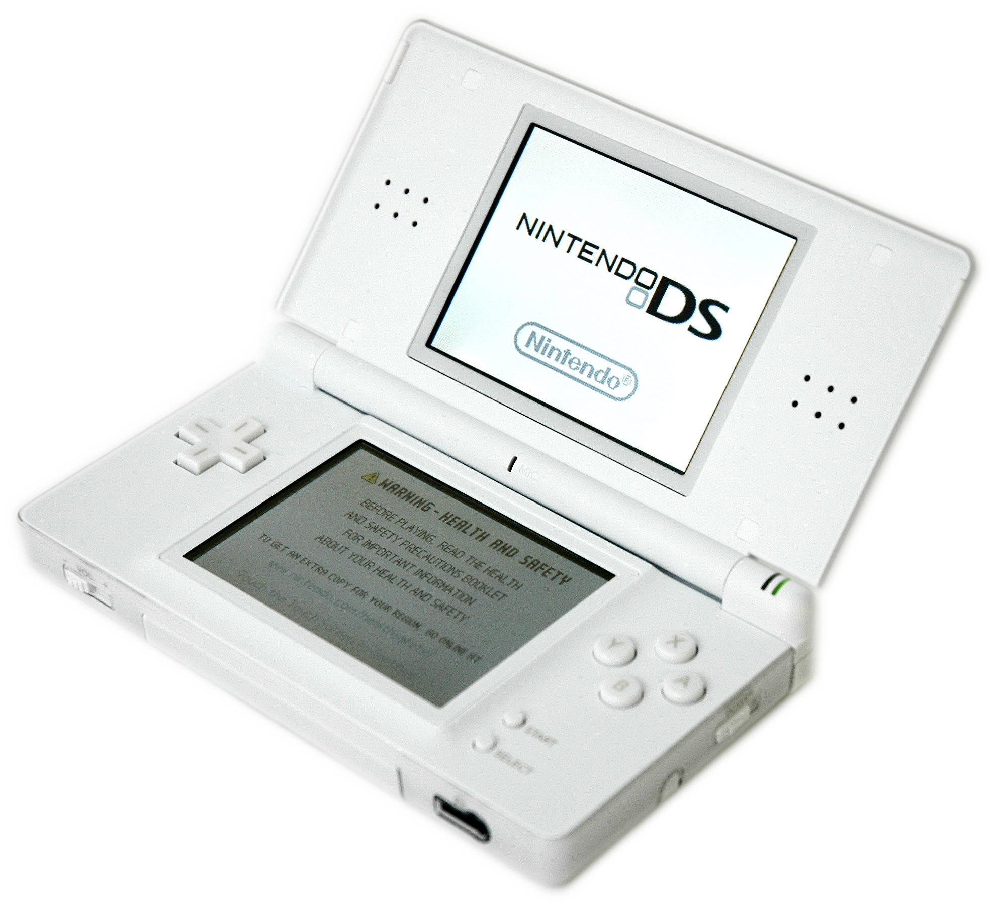Nintendo DS. I still have my pink and white one! 8/16/13