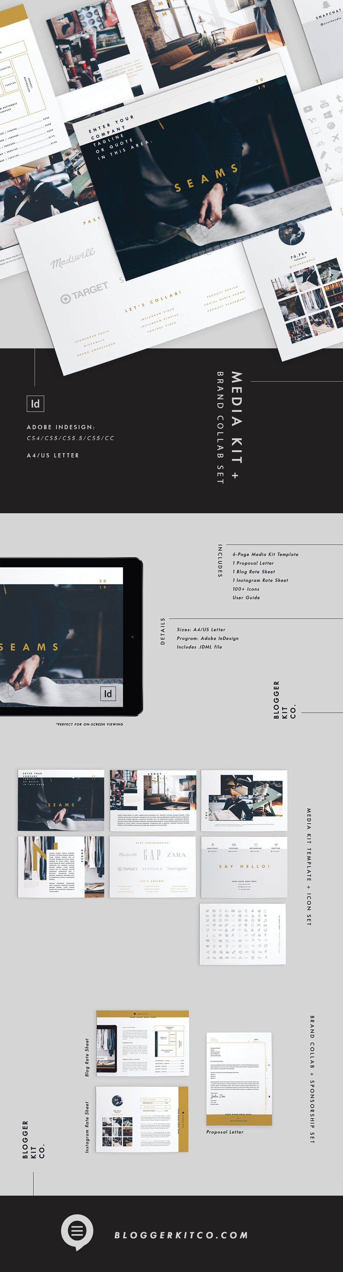Blog Media Kit + Sponsorship   9 Pgs