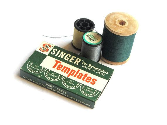 Vintage Singer Sewing Templates 160668 Original Box by recreated1, $10.00