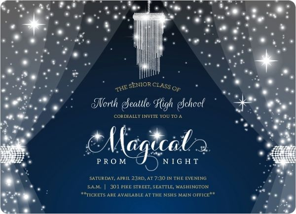 Magical night crystal prom invitation annies 50th party ideas magical night crystal prom invitation stopboris Image collections