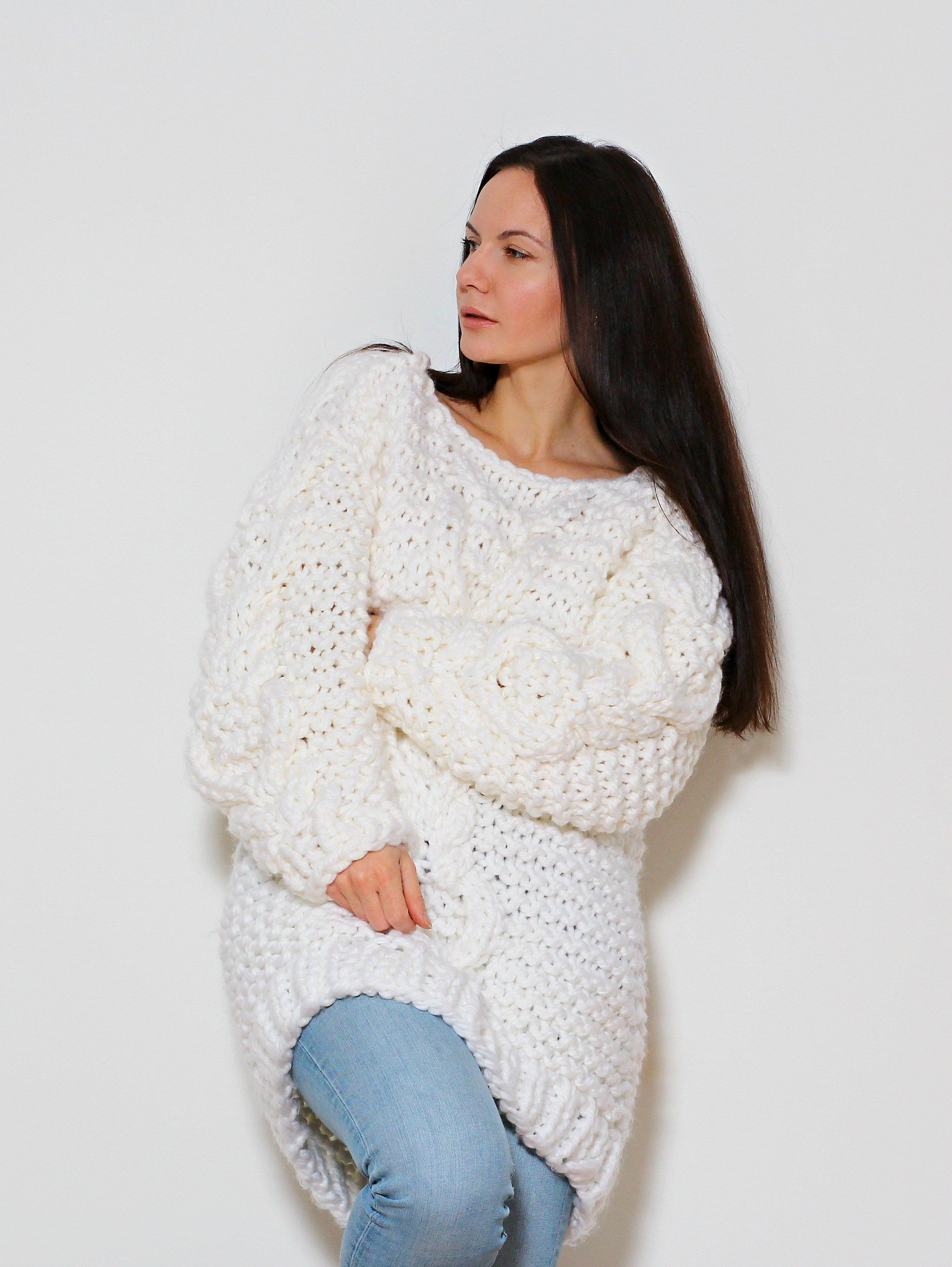 Baby Alpaka Grobstrick Pullover Pullover Kleid Lange Etsy Chunky Knits Sweater Beautiful Womens Sweaters Sweaters