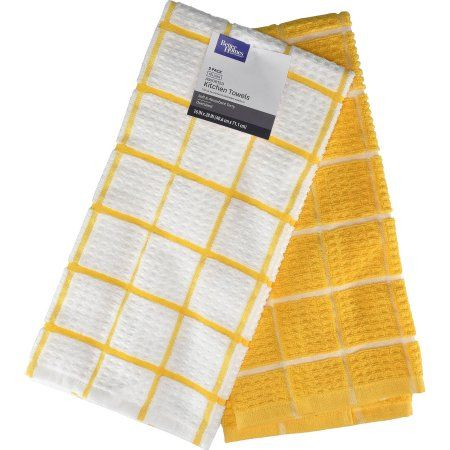 Better Homes And Gardens Kitchen Towels 2pk Sunray Yellow