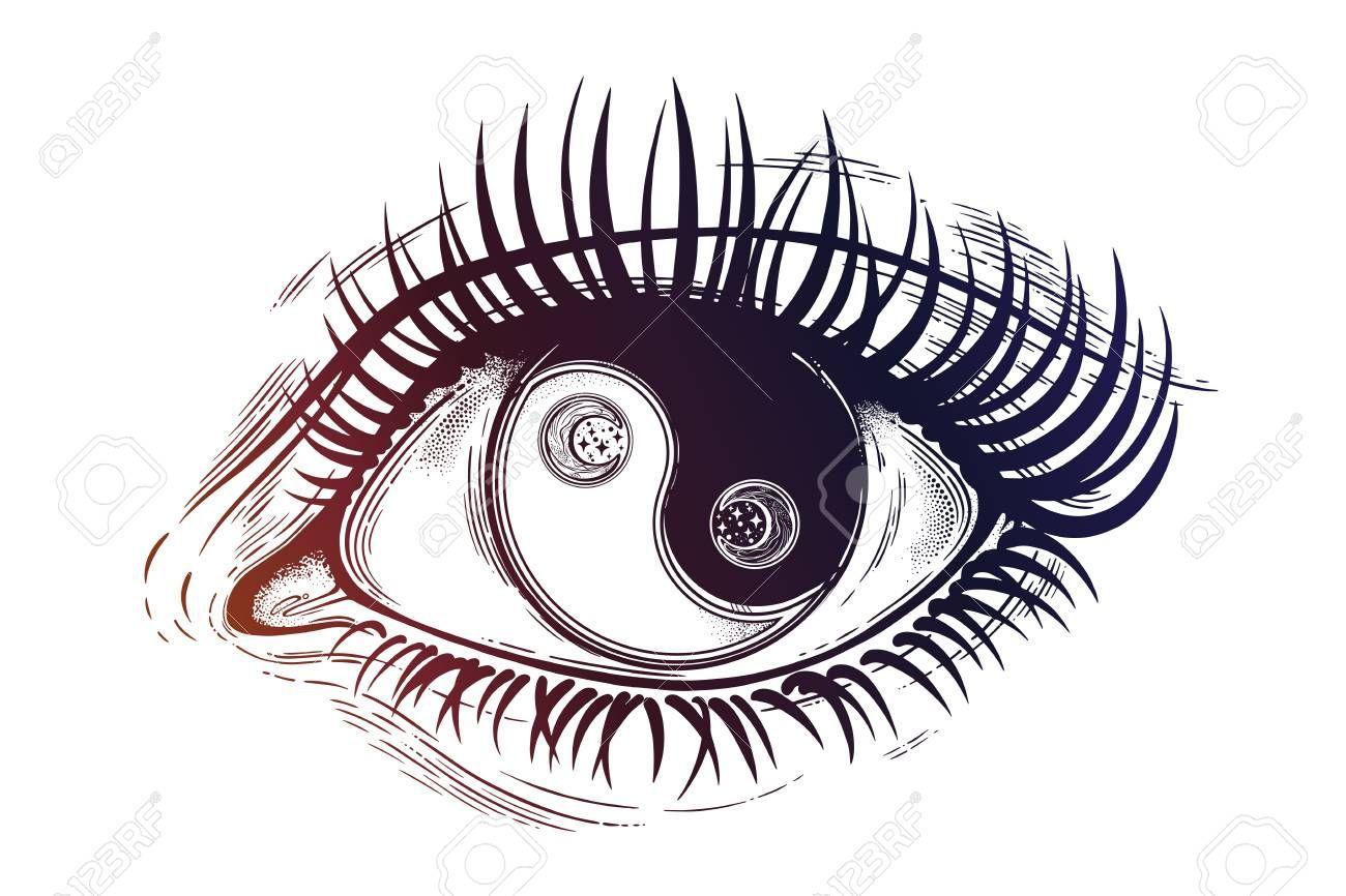 Stock Vector In 2020 Yin Yang Art Eye Art Yin Yang