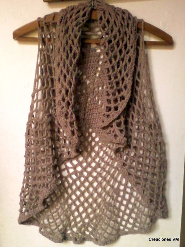 c299eb62e Chalecos Chaleco Tejido Crochet Para Este Verano Imperdible Kamistad ...