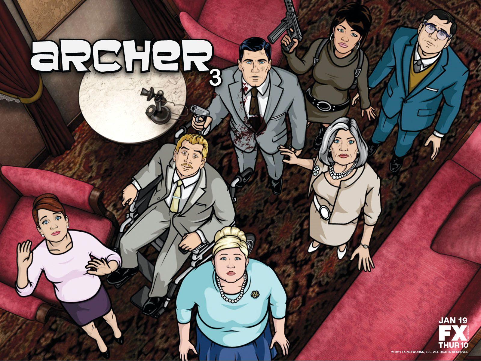 'Archer' Wallpaper (Season 3) Inspirational Art Archer