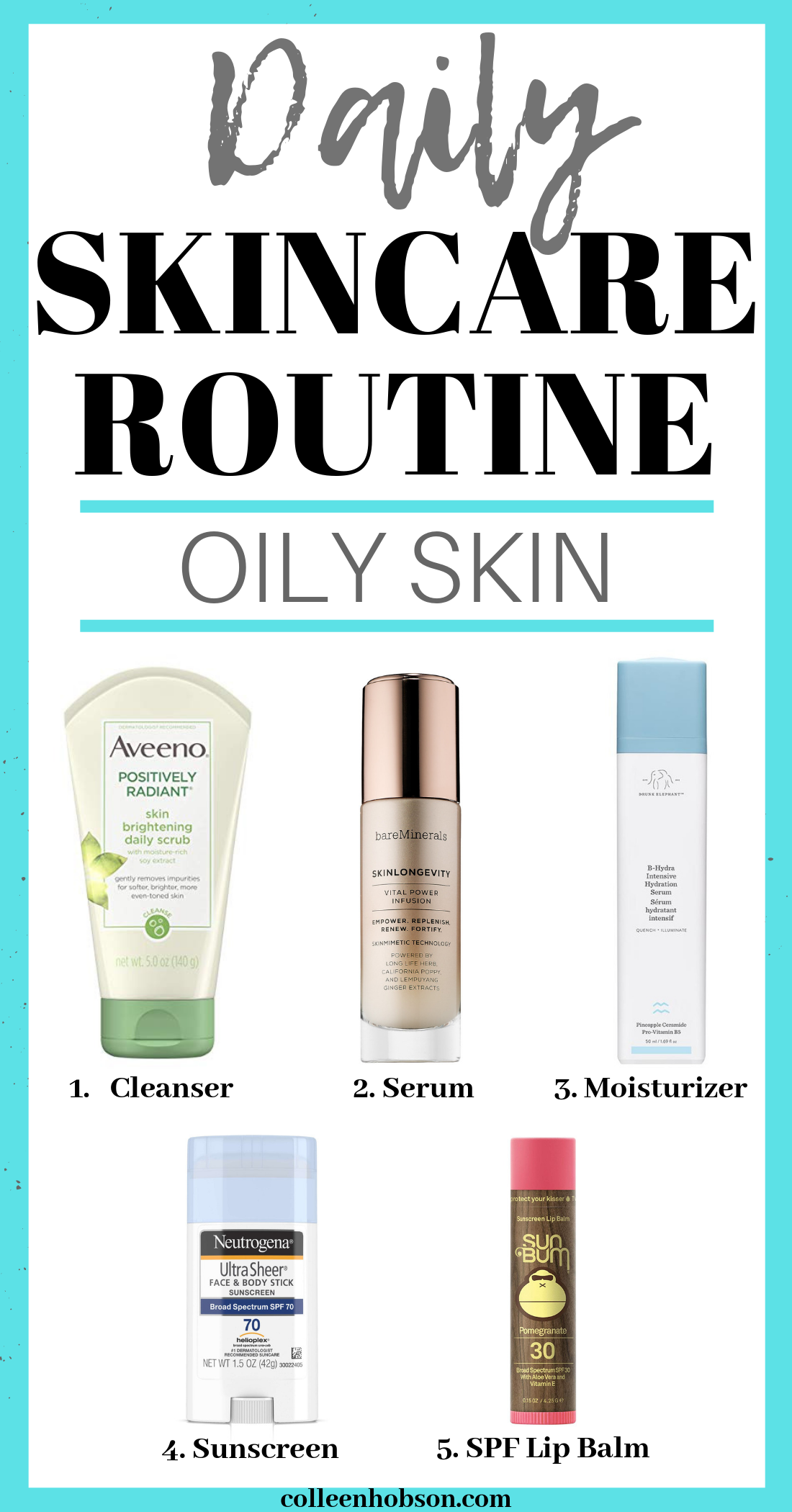 Daily Skincare Routine For Oily Skin Colleen Hobson Oily Skin Care Affordable Skin Care Oily Skin Care Routine