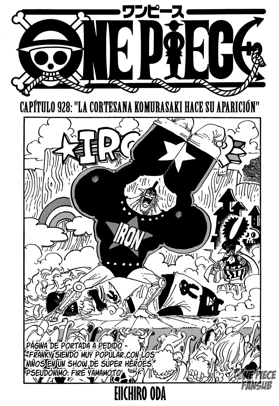 One Piece 928 Piece Manga Manga One Piece