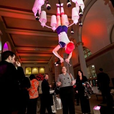 Houston aerial bartenders can be costumed to match any event! Aerial server provided by J&D Entertainment www.jdentertain.com