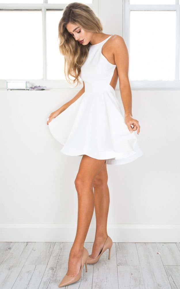 Sparks Flying Dress In White Produced By SHOWPO