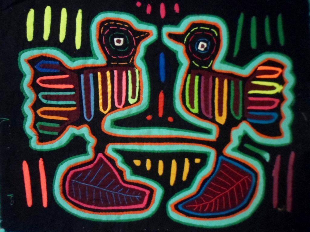 Kuna Indian LOVEBIRD Mola II-Panama 15101723L