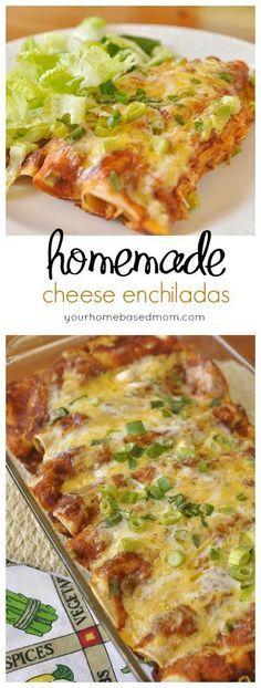 Chicken Enchiladas Homeamde Enchilada Sauce Recipe Mexican Food Recipes Enchilada Recipes Homemade Enchiladas