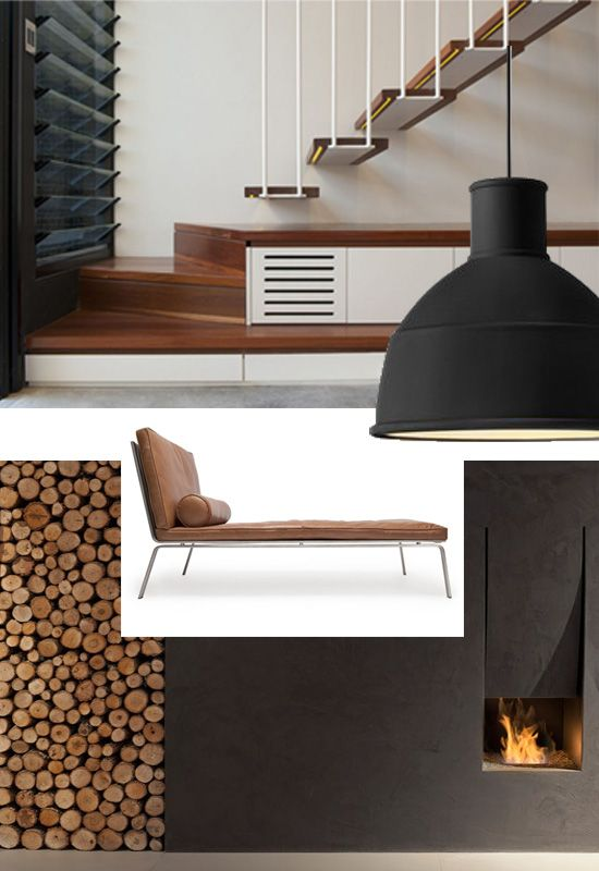 Stability Comfort Ease Interior Design Mood Board Black White Wood And Add A Pop Of Color Change With T Interior Design Boards Design Mood Board Design