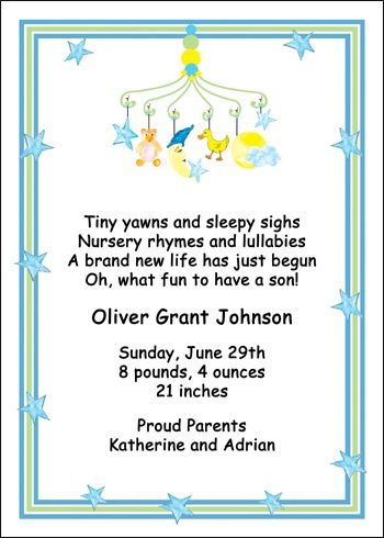 Announcement Cards For Your New Baby Exclusively At Cardspe And Enjoy 10 Free Same Day Print Ship Proof Within 1 Hour