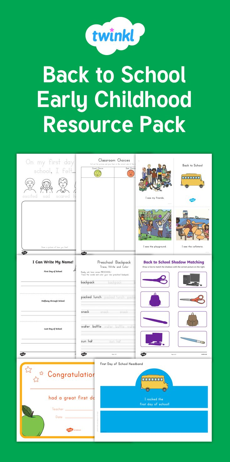 Back to School Early Childhood Resource Pack - This time-saving pack has lots of back to school activities to get the new school year off to a flying start! Lots of our most popular early childhood resources for the start of the school year in one handy pack - Twinkl
