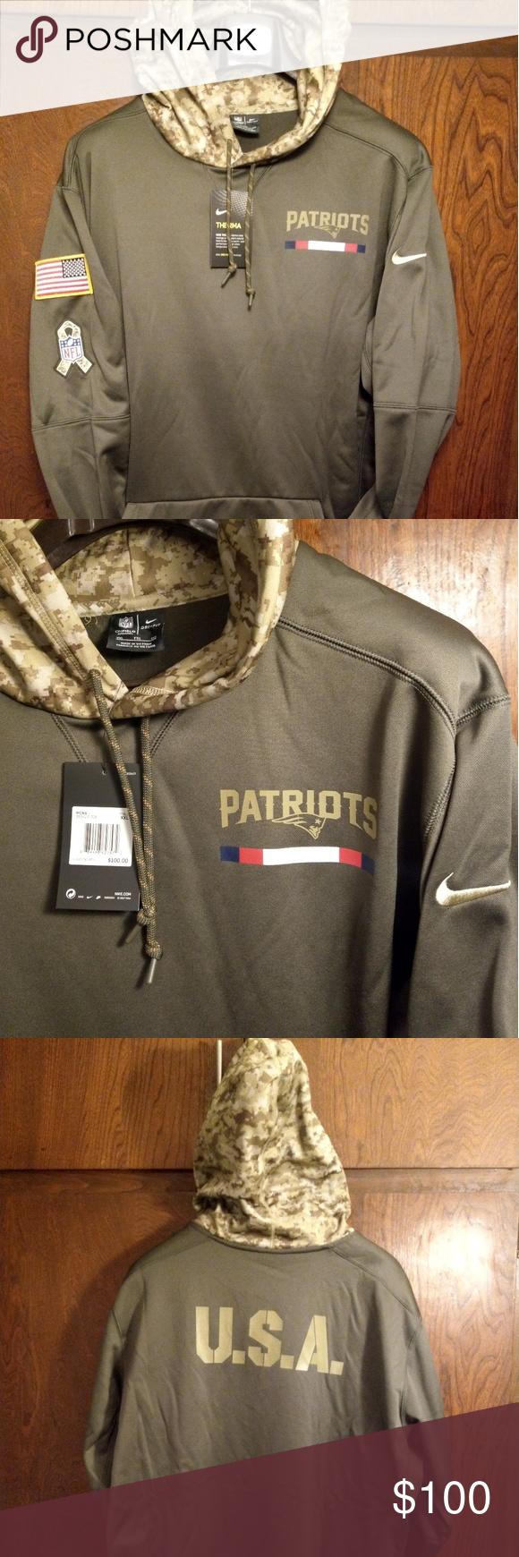 Nike New England Patriots 2017 Salute to Service Nike New England Patriots  2017 Salute to Service Hoodie 853423 325 XXL NWT Nike Shirts Sweatshirts    ... 06f00c15c