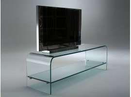 Porta tv mobile in vetro curvato Tango | Tango and TVs