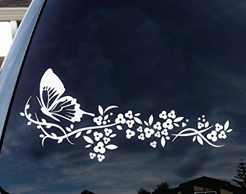 Lots Butterfly Flower Car Truck Wall Vinyl Window Decals Sticker Wall Decor Hot~