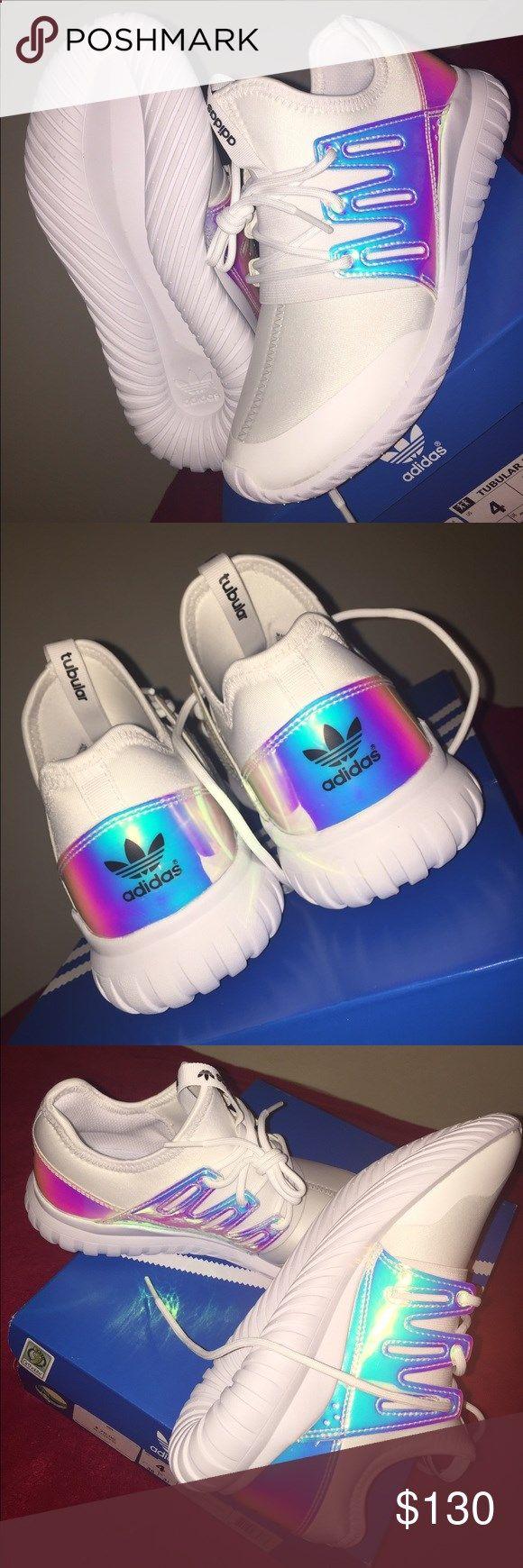 Adidas Tubular Radial K White and holographic adidas tubular. Brand ... 7ba69e999