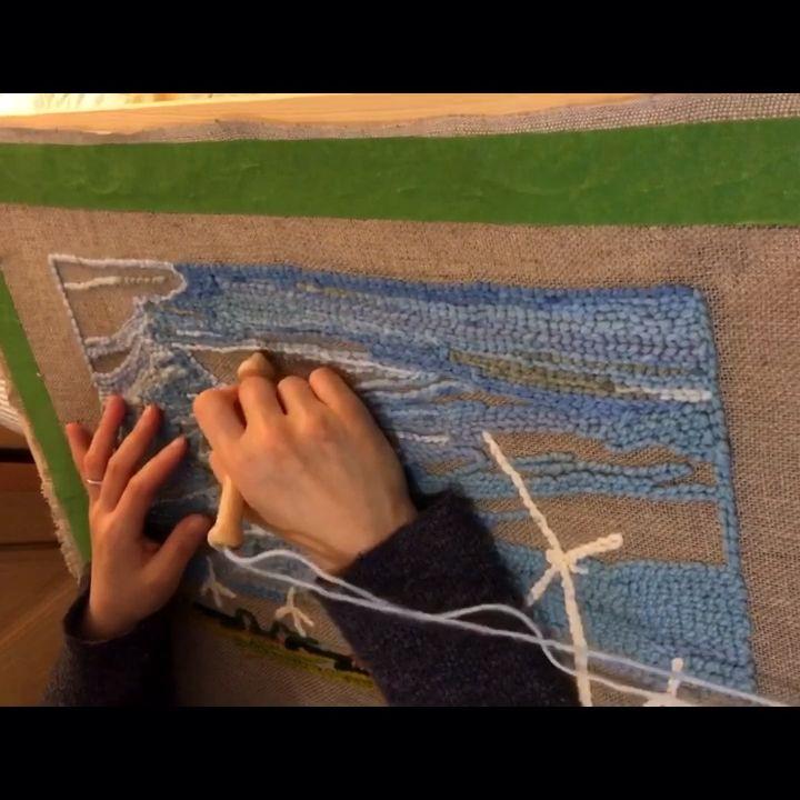 Wind Turbine and surroundings ☁️☁️💜  . . . #makersgonnamake #punchneedle #punchneedleembroidery #punchneedleart #punchneedlegang #punchneedlelove #rughooking #makermakes #littlecanvas #punchneedlerughooking #punchneedling #punchneedleartist #handmade #handmadecrafts #makingstuff #wip #workinprogress #studiolife #artstudio #craftstudio #yarnart #fibreart #windturbine #windturbineart #makersofinstagram #wolfeisland #kingstonartist #ottawaartist