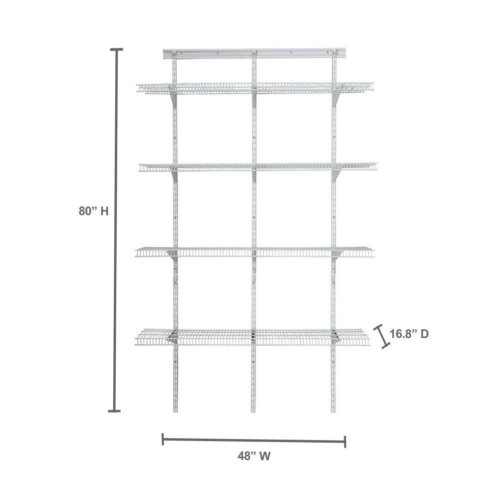 Closetmaid 2845 Shelftrack 4ft Pantry Organizer Kit White Review Closetmaid Pantry Organization