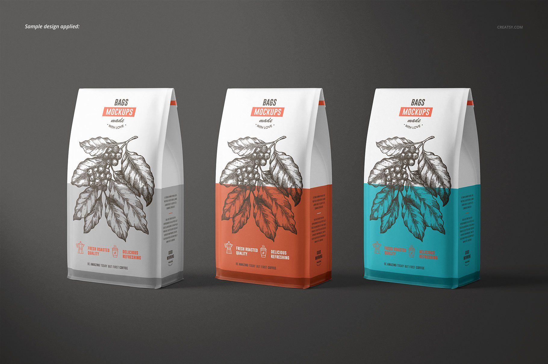 Download Paper Coffee Bag Mockup Set Bag Mockup Coffee Bag Design Coffee Bag