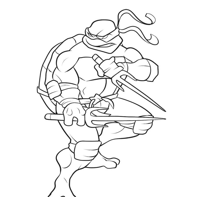 Teenage Mutant Ninja Turtles Coloring Page | Coloring Pages ...