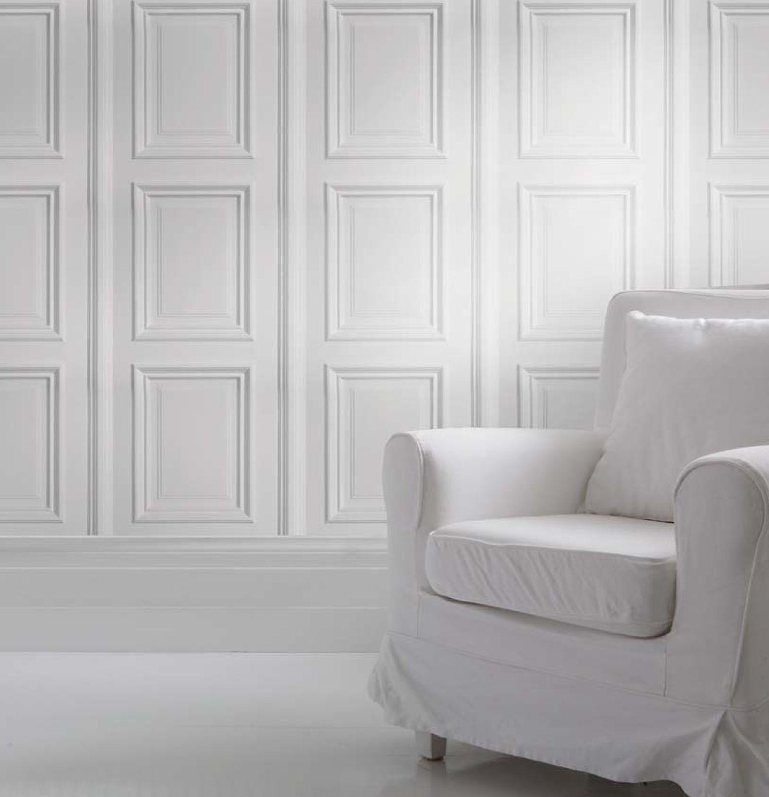 Wallpaper Panelling White Paneling Home White Walls